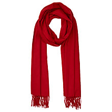 Buy Reiss Temple Oversized Fringe Scarf, Red Online at johnlewis.com