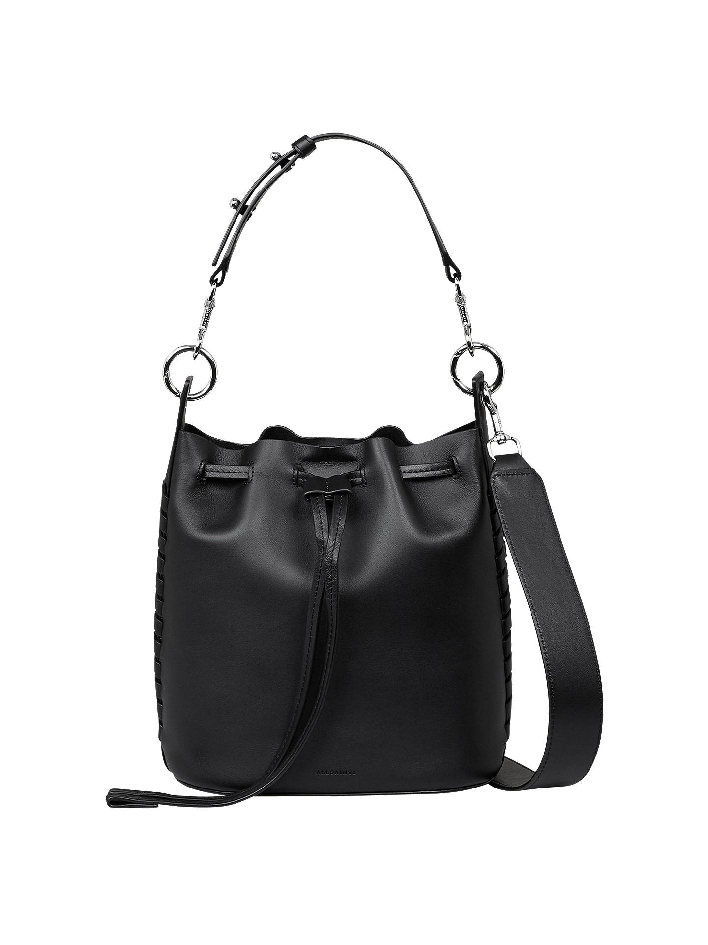 6c99537dbcfa BuyAllSaints Ray Leather Small Bucket Bag