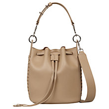 Buy AllSaints Ray Leather Small Bucket Bag, Black Online at johnlewis.com