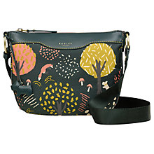 Buy Radley Epping Forest Small Leather Cross Body Bag, Pine Online at johnlewis.com