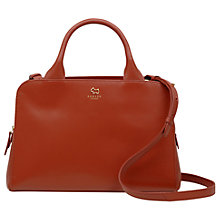 Buy Radley Millbank Leather Medium Grab Bag, Paprika Online at johnlewis.com