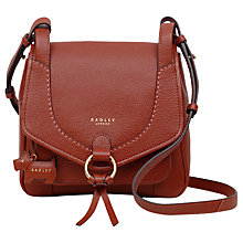 Buy Radley Sunray Gardens Leather Small Cross Body Bag, Paprika Online at johnlewis.com
