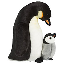 Buy Living Nature Penguin With Chick Plush Soft Toy, Black/White Online at johnlewis.com