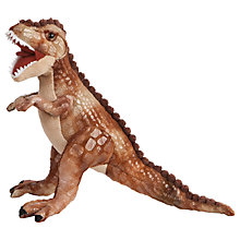 Buy Living Nature Tyrannosaurus Rex Dinosaur Plush Soft Toy, Brown Online at johnlewis.com