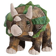Buy Living Nature Triceratops Dinosaur Plush Soft Toy, Brown/Green Online at johnlewis.com