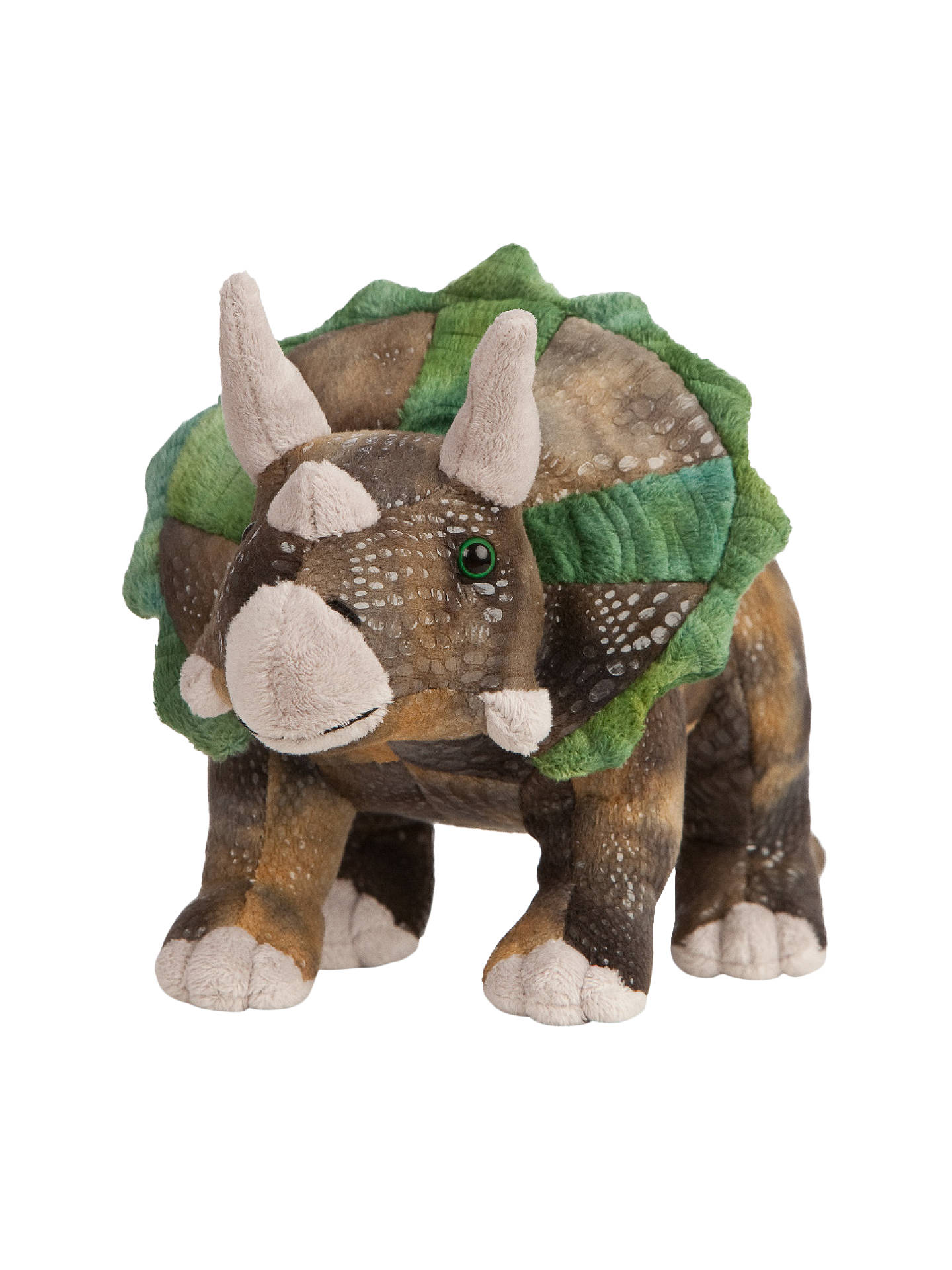 Living Nature Triceratops Dinosaur Plush Soft Toy At John Lewis  Partners