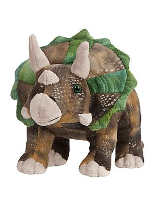 Living Nature Triceratops Dinosaur Plush Soft Toy