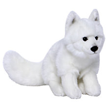 Buy Living Nature Arctic Fox Plush Soft Toy, White Online at johnlewis.com