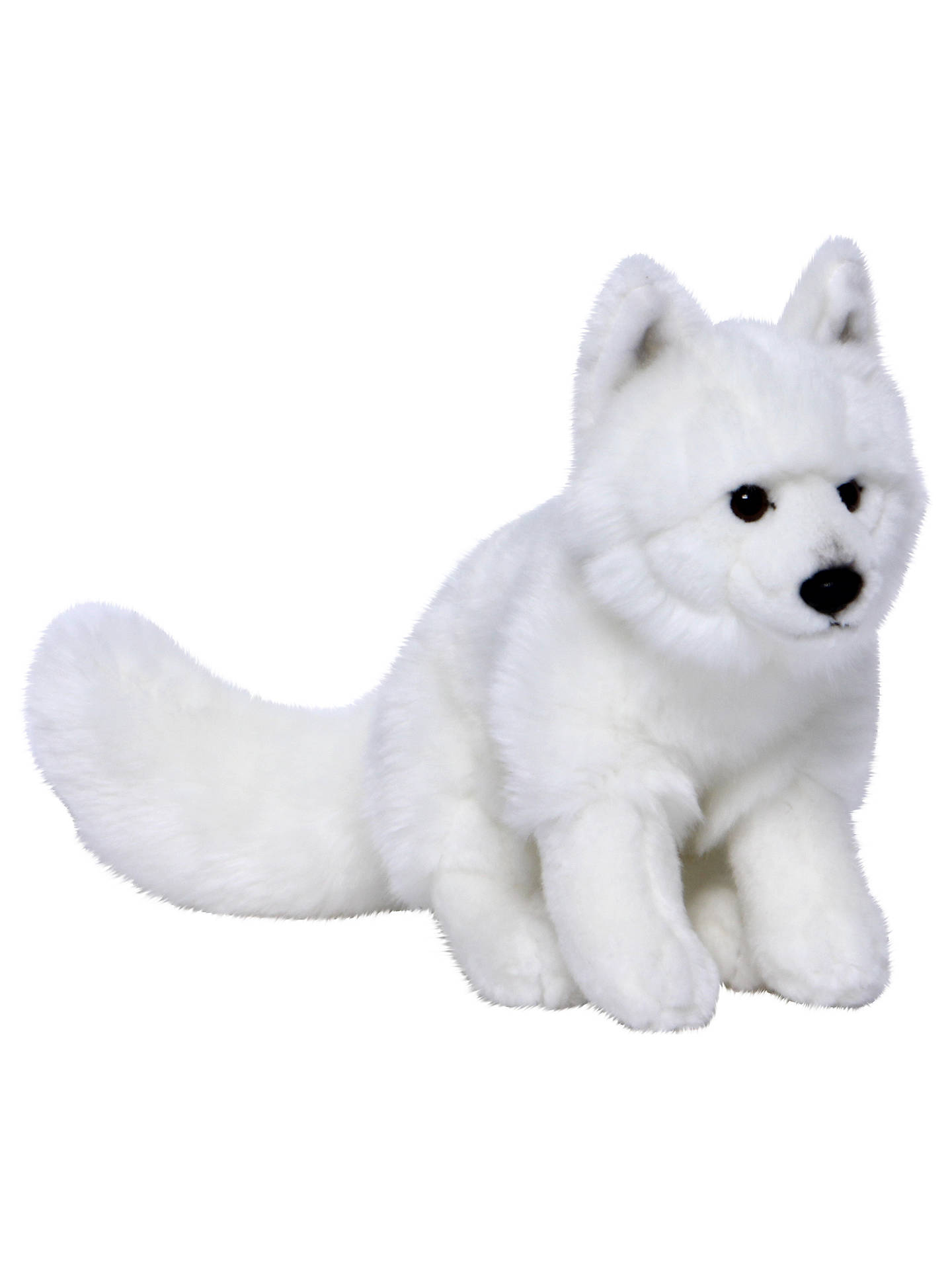 BuyLiving Nature Arctic Fox Plush Soft Toy, White Online at johnlewis.com