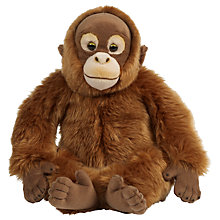 Buy Living Nature Orangutan Plush Soft Toy, Orange Online at johnlewis.com