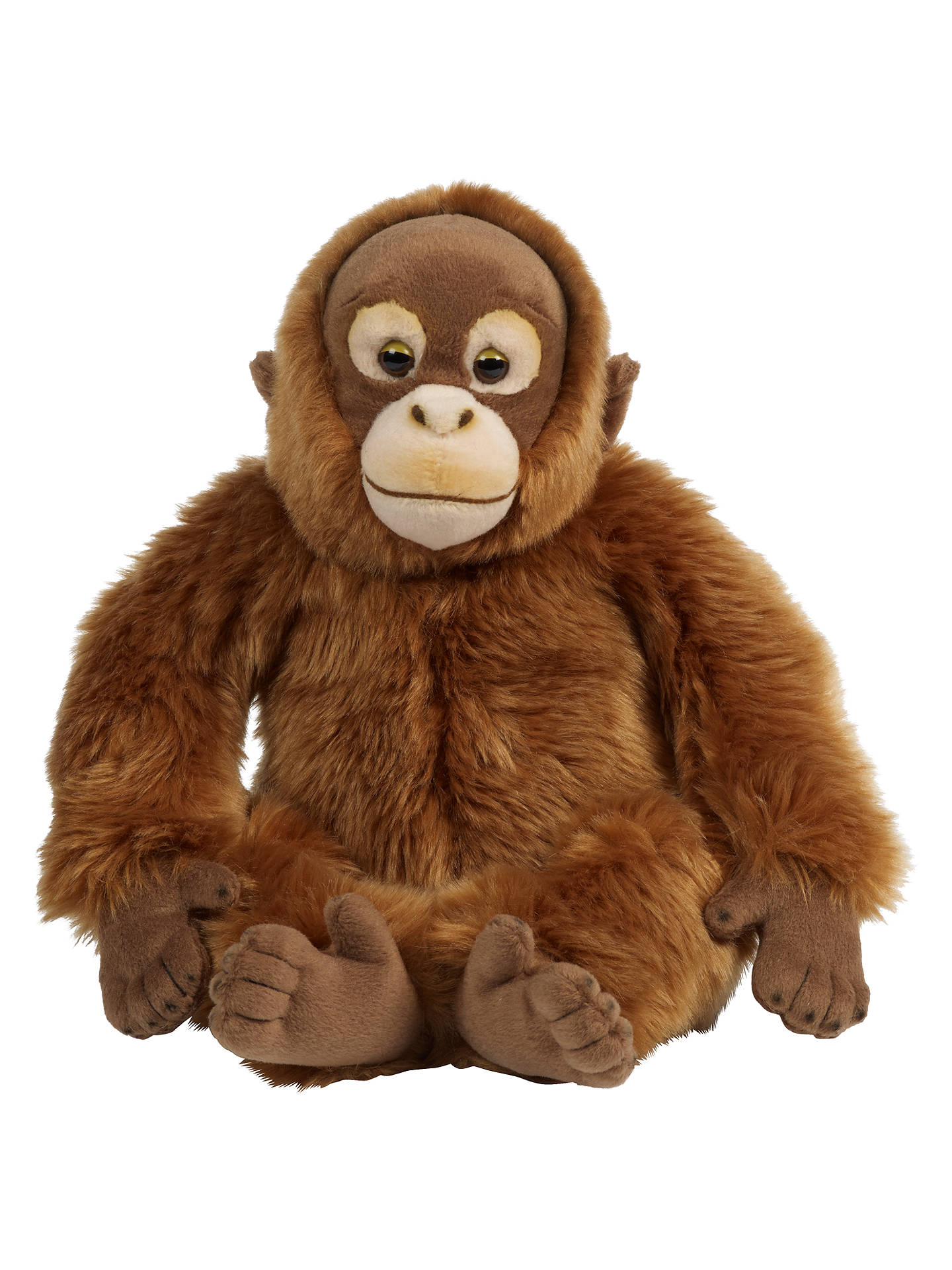Living Nature Orangutan Plush Soft Toy Orange At John Lewis Partners