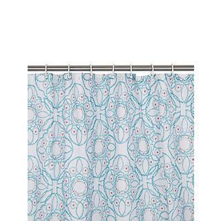 John Lewis Fusion Kasmanda Shower Curtain Blue