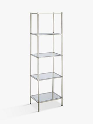 John Lewis Partners 5 Tier Rust Resistant Stainless Steel And Gl Shelving Unit