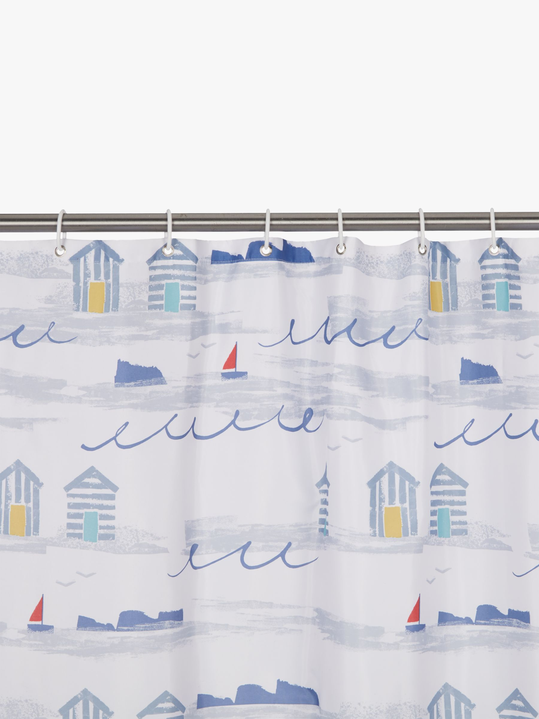 John Lewis Partners Coastal A Day At The Beach Shower Curtain