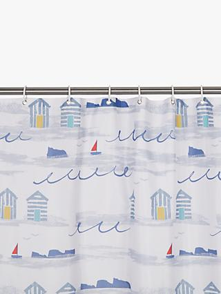 John Lewis & Partners Coastal A Day at the Beach Shower Curtain