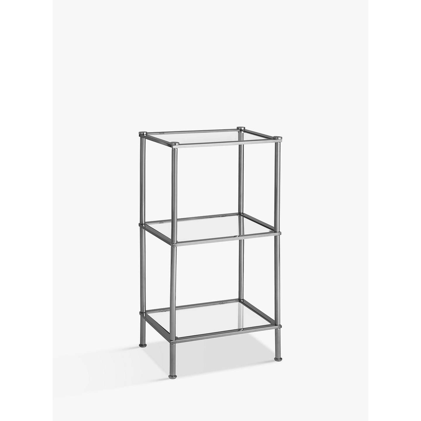 BuyJohn Lewis Stainless Steel 3 Tier Shelf Unit, Silver Online At  Johnlewis.com ...