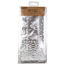 Buy Ginger Ray Spotted Party Bags, Silver, Pack of 10 Online at johnlewis.com