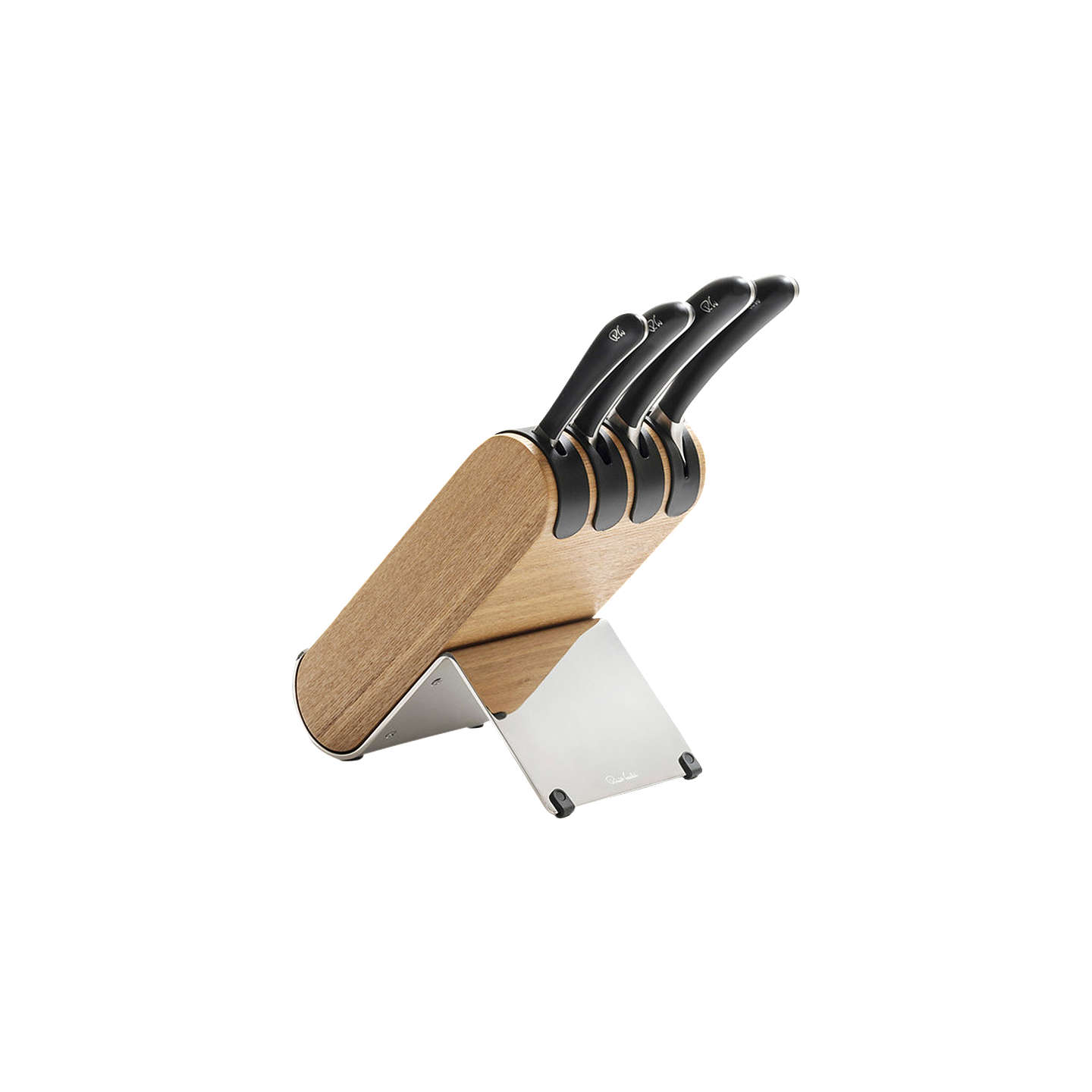 robert welch q knife block with 4 signature knives set at. Black Bedroom Furniture Sets. Home Design Ideas