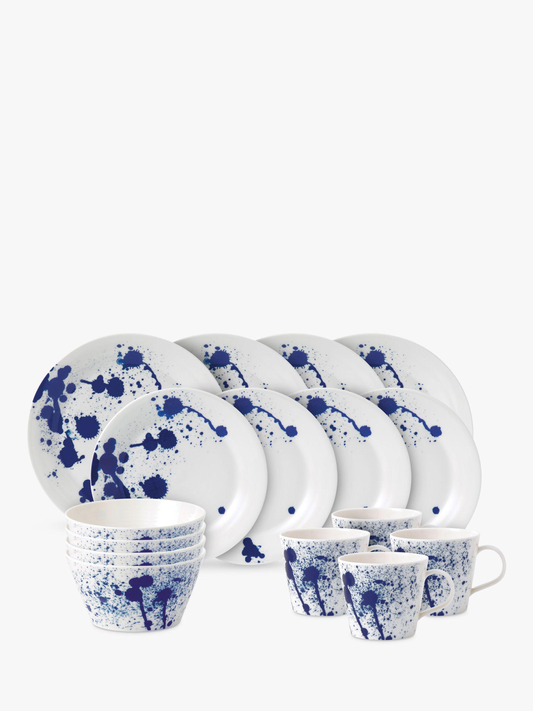 Royal Doulton Royal Doulton Pacific Porcelain Dinnerware Set, Splash, 16 Pieces