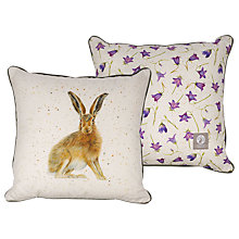 Buy Harebell Designs Hare Cushion, Multi Online at johnlewis.com