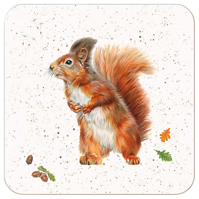 Harebell Designs Squirrel Coasters, Set of 4, Multi
