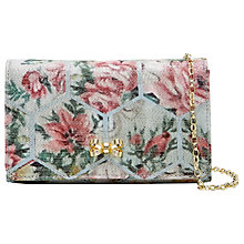 Buy Ted Baker Almere Patchwork Jacquard Clutch Bag, Pale Blue Online at johnlewis.com