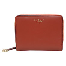 Buy Radley Arlington Street Leather Medium Matinee Purse, Paprika Online at johnlewis.com