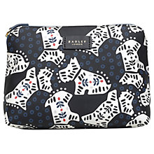 Buy Radley Folk Dog Fabric Medium Pouch Bag, Black Online at johnlewis.com