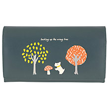 Buy Radley The Wrong Tree Leather Large Flapover Matinee Purse Online at johnlewis.com