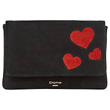 Buy Dune Beautiee Foldover Clutch Bag, Black Online at johnlewis.com