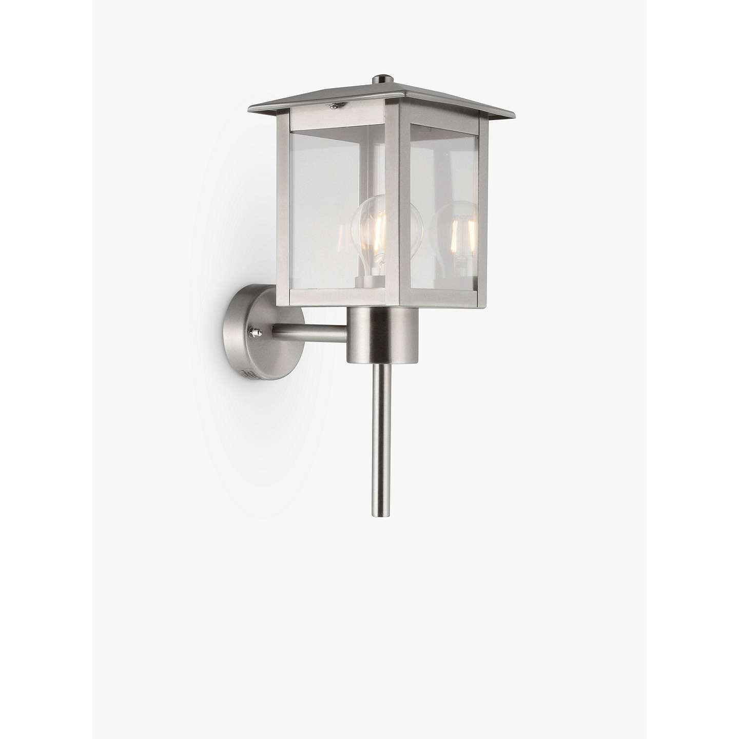 John lewis stowe coach lantern outdoor wall light at john lewis buyjohn lewis stowe coach lantern outdoor wall light chrome online at johnlewis mozeypictures Image collections