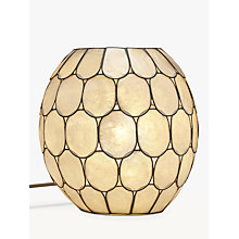 Buy John Lewis Ampara Capiz Shell Vessel Table Lamp Online at johnlewis.com