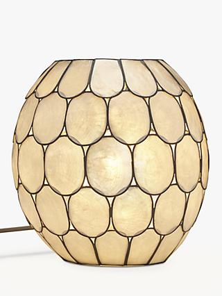 John Lewis & Partners Ampara Capiz Shell Vessel Table Lamp