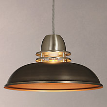 Pendant ceiling lighting john lewis buy john lewis carmine easy to fit ceiling shade pewter online at johnlewis aloadofball Gallery