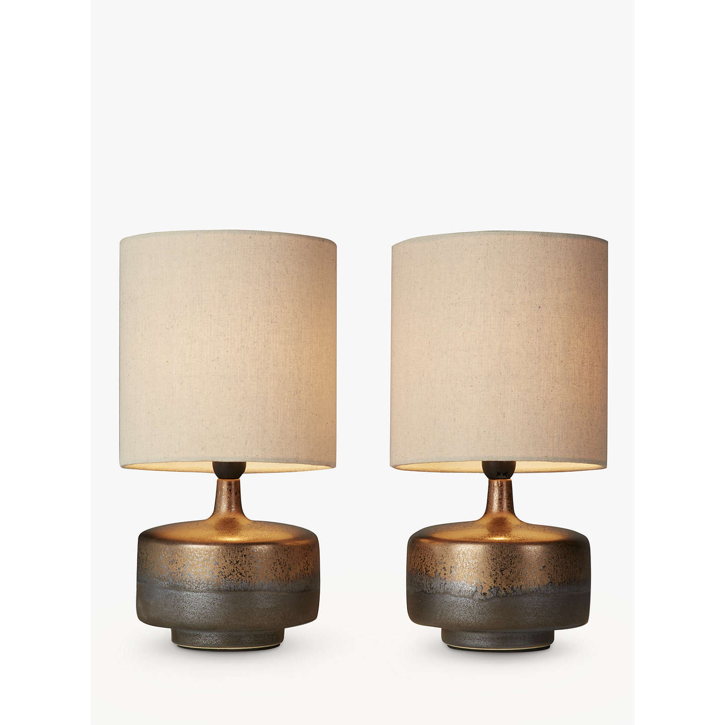 John lewis delaney metallic glaze ceramic table lamp set of 2 at buyjohn lewis delaney metallic glaze ceramic table lamp set of 2 online at johnlewis aloadofball Gallery