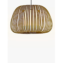 Buy John Lewis Harmony Velvet Ribbon Ceiling Light, Large, Olive Online at johnlewis.com
