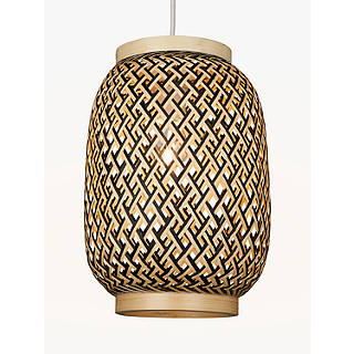 Ceiling lighting furniture lights john lewis john lewis adra easy to fit bamboo ceiling shade natural mozeypictures Gallery