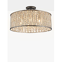 Buy John Lewis Emilia Large Crystal Drum Flush Ceiling Light Online at johnlewis.com