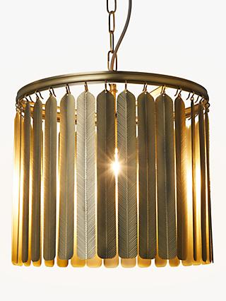 John Lewis & Partners Indriya Ceiling Light, Antique Brass