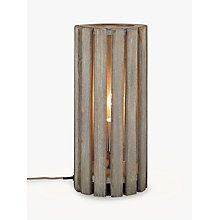Buy John Lewis Helston Wooden Slatted Table Lamp, Grey Online at johnlewis.com