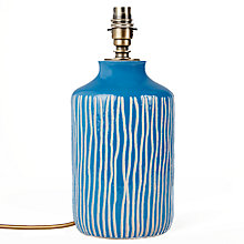 Buy John Lewis Afra Striped Stoneware Lamp Base Online at johnlewis.com