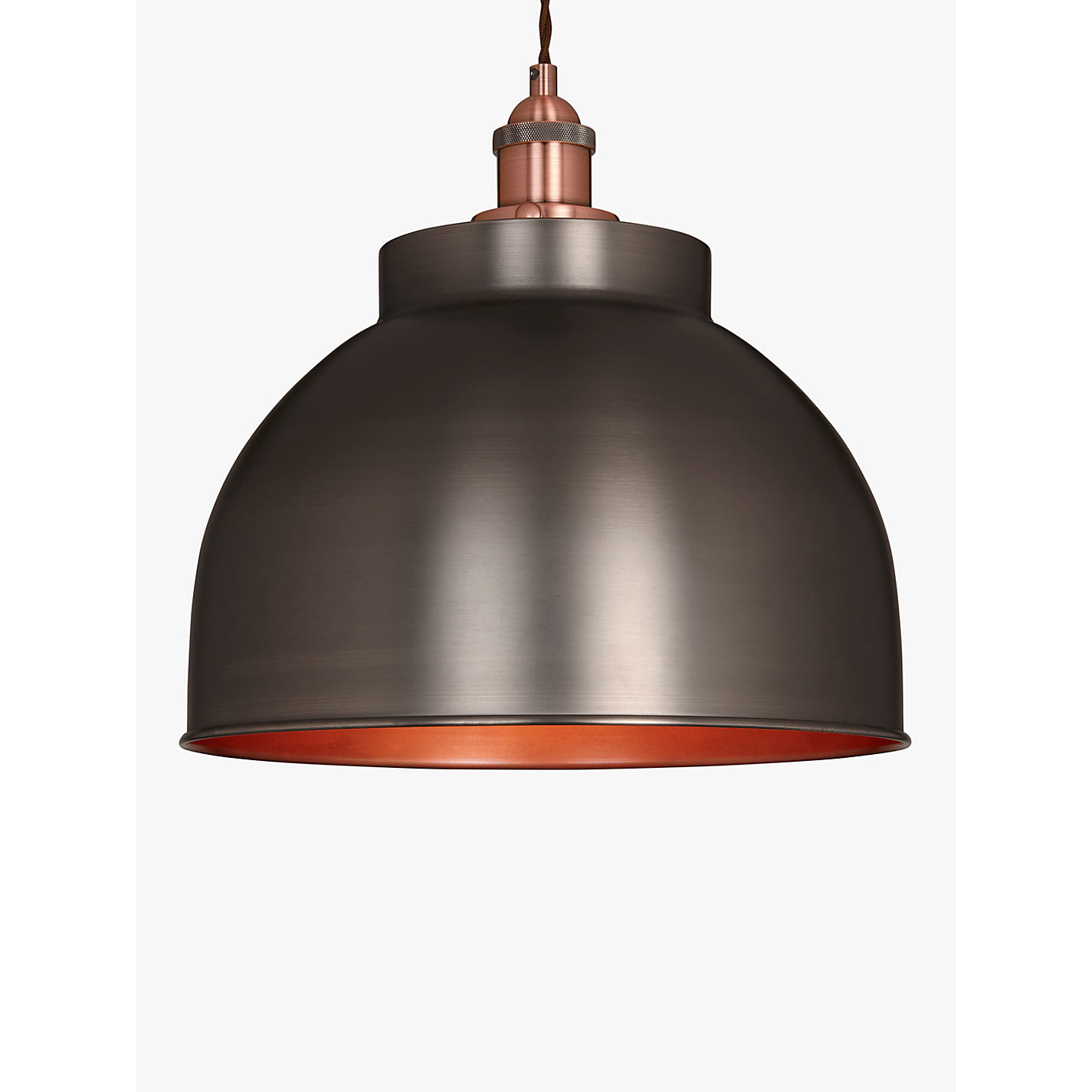 Buy John Lewis Baldwin Large Pendant Ceiling Light Pewter Online At Johnlewis