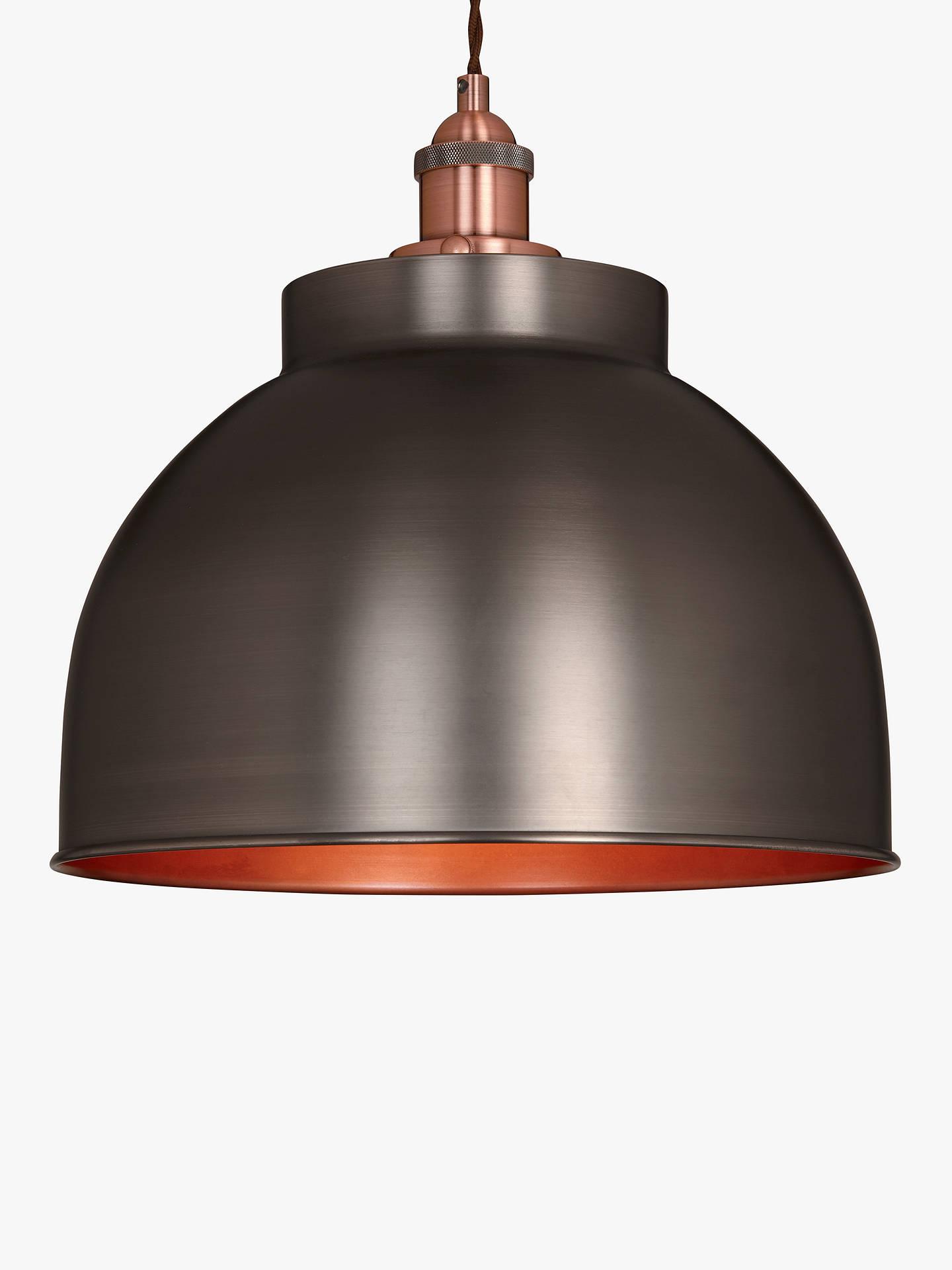 72dab55869d1 Buy John Lewis & Partners Baldwin Large Pendant Ceiling Light,  Pewter/Copper Online at ...