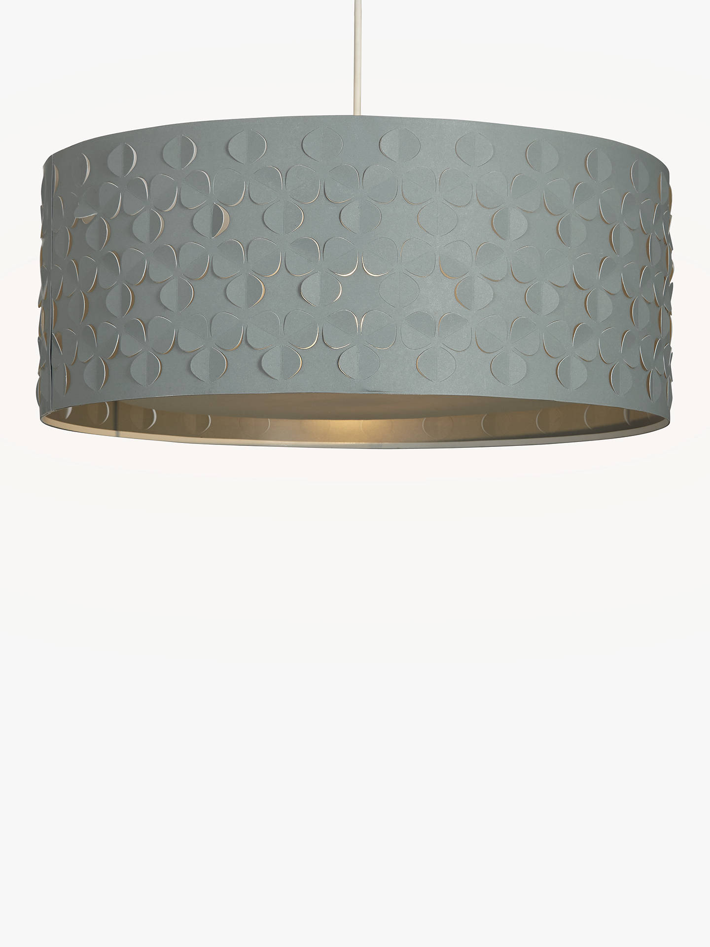 BuyJohn Lewis & Partners Clara Large Easy-to-Fit Diffuser Ceiling Shade, Grey Online at johnlewis.com
