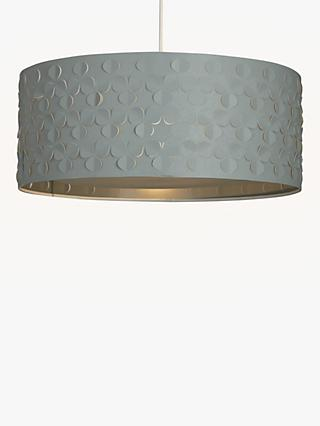 John Lewis & Partners Clara Large Easy-to-Fit Diffuser Ceiling Shade, Grey