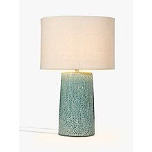 Buy John Lewis Capelin Tall Dimpled Ceramic Table Lamp, Aqua Online at johnlewis.com