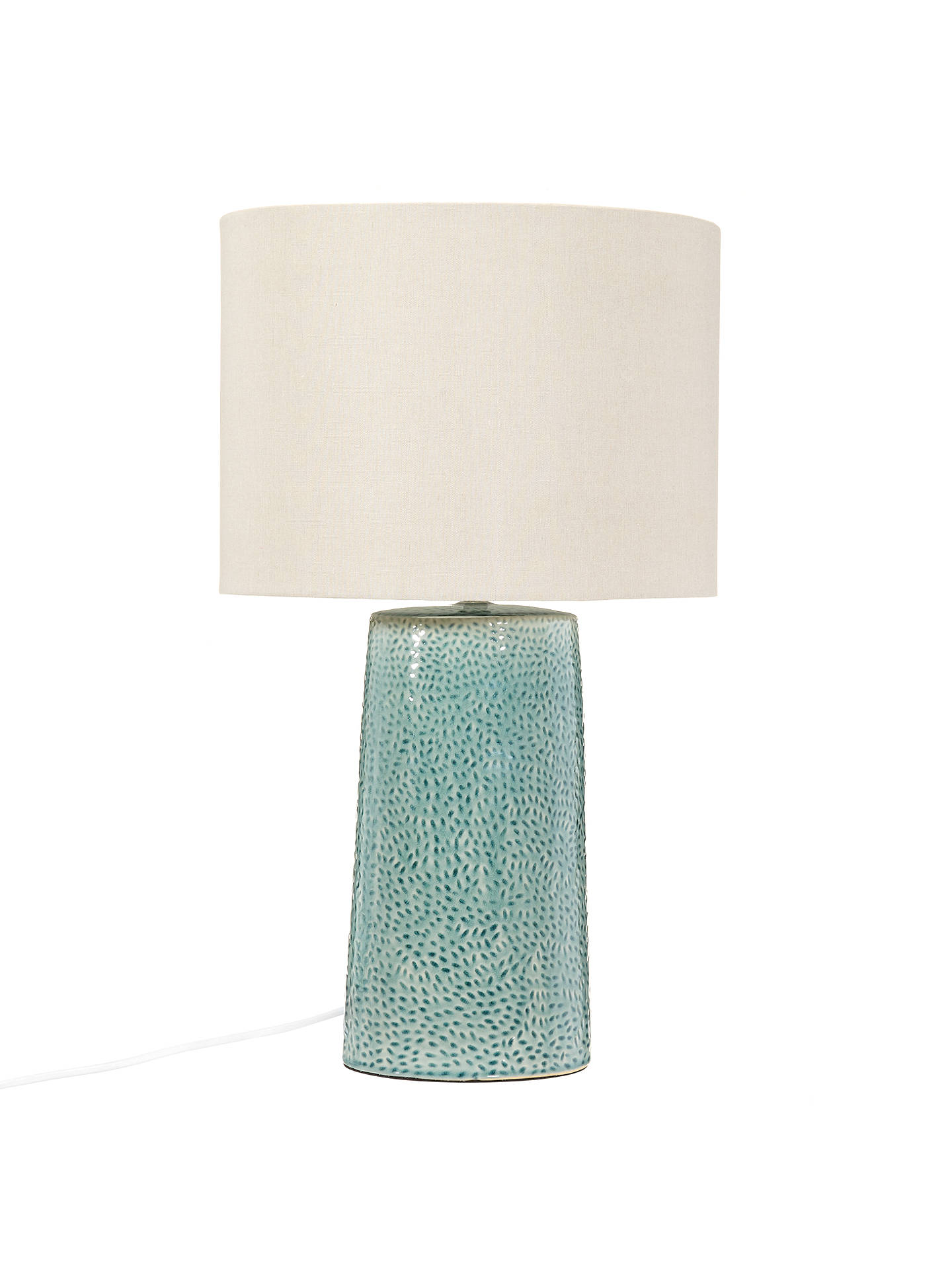 BuyJohn Lewis & Partners Capelin Tall Dimpled Ceramic Table Lamp, Aqua Online at johnlewis.com