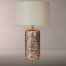 Buy John Lewis Flora Ceramic Table Lamp, Rose Gold Online at johnlewis.com