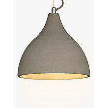 Buy John Lewis Emile Concrete Pendant Light, Grey Online at johnlewis.com