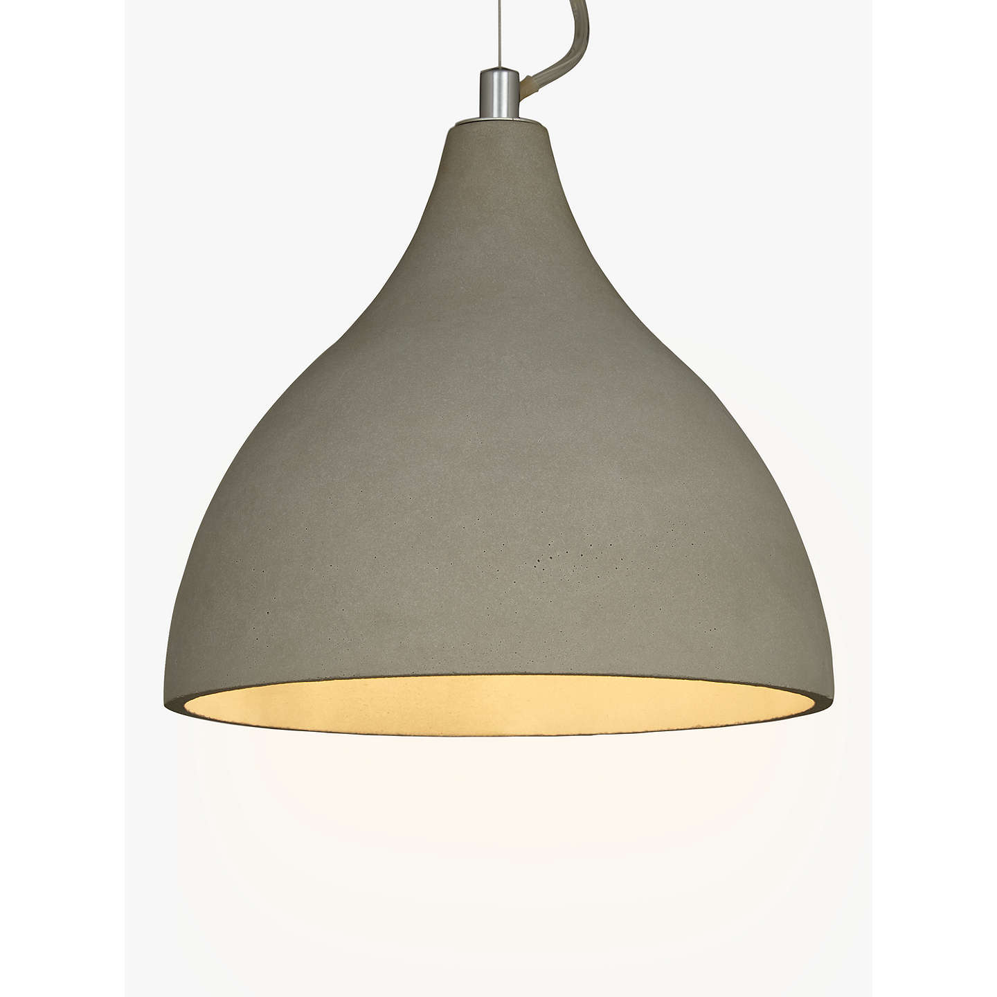 drop light ash pendants pendant sculpt in concrete
